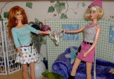 Fighting Barbies